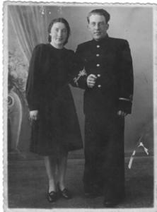 Евгения и Василий Дуровы после войны.