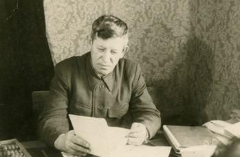 Мочалин И.П. за работой. 1950-е годы.
