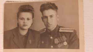 Асмаковский Роман Афанасьевич с женой Фросей