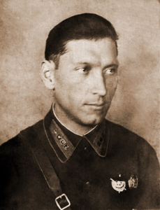 Старший лейтенант Петр Кузьмин. 1940 год